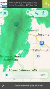 Twin Falls weather map