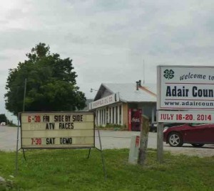 adair county fairgrounds sign
