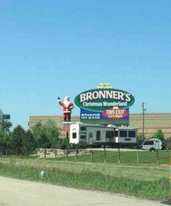 Bronner's road sign