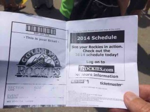coors field ticket