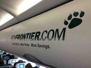 frontier airlines interior