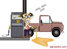 overfilling gas tank