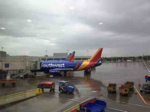 southwest airlines rain