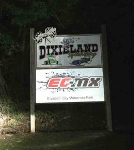 Dixieland Speedway sign