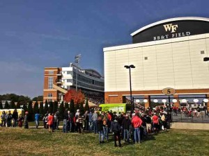 fans entering bb&t stadium wake forest
