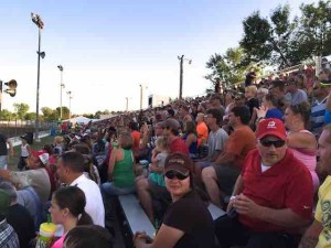 isanti crowd in grandstand