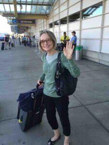 Carol leaving washington airport