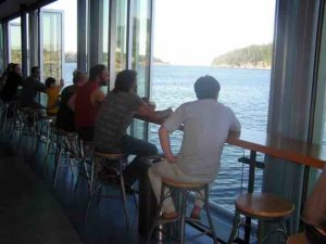 It was certainly calming to sit at the water's edge having a drink during the wait.