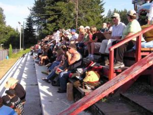 A nice-sized crowd was on hand for the Saratoga Speedway racing program.
