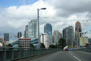 Vancouver has its share of high rise buildings.