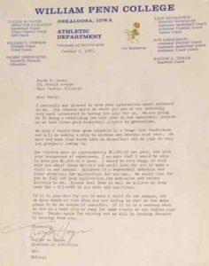 William Penn recruiting letter