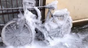 frozen bike icycle