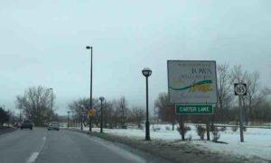 iowa state line sign