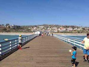 The iconic San Clemente pier is just 500 yards from our house.