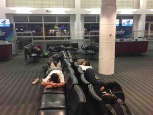 sleeping in airport seatac