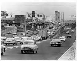 vintage freeway driving