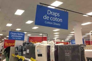 wal-mart french signs