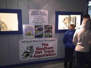 all-tech raceway admissions sign