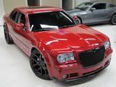 chrysler 300 red w black wheels