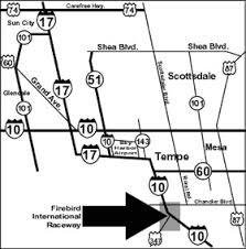 Firebird International Raceway map