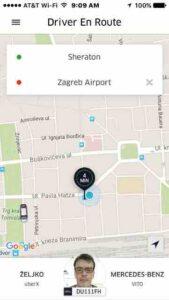 croatia uber driver