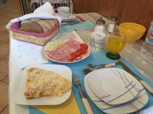 hungary B&B breakfast