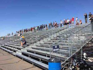 white horse red bull rallycross grandstand
